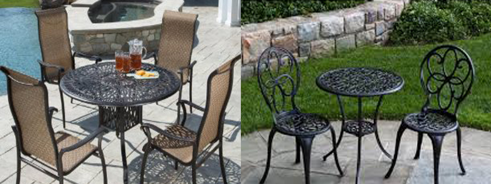 a buyer s guide to cast aluminum patio furniture sets