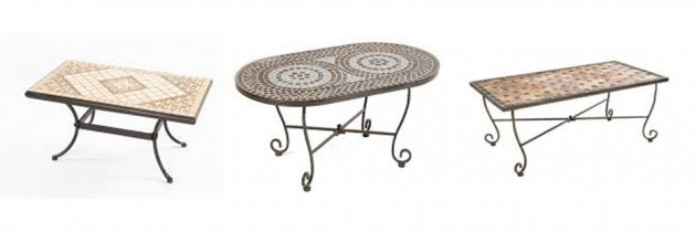 easily make your own mosaic patio coffee tables patio design trends. Black Bedroom Furniture Sets. Home Design Ideas
