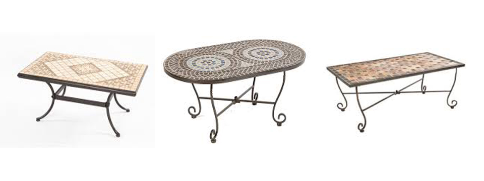 Easily make your own mosaic patio coffee tables patio for Create your own coffee table